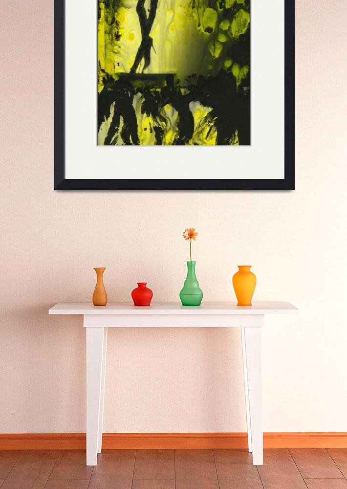 """""""Yellow water color painted gelatin print&quot  (2010) by edwardolive"""
