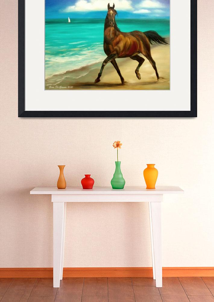 """""""Horses in Paradise, Dance, by Gina De Gorna&quot  (2008) by GinaDeGorna"""