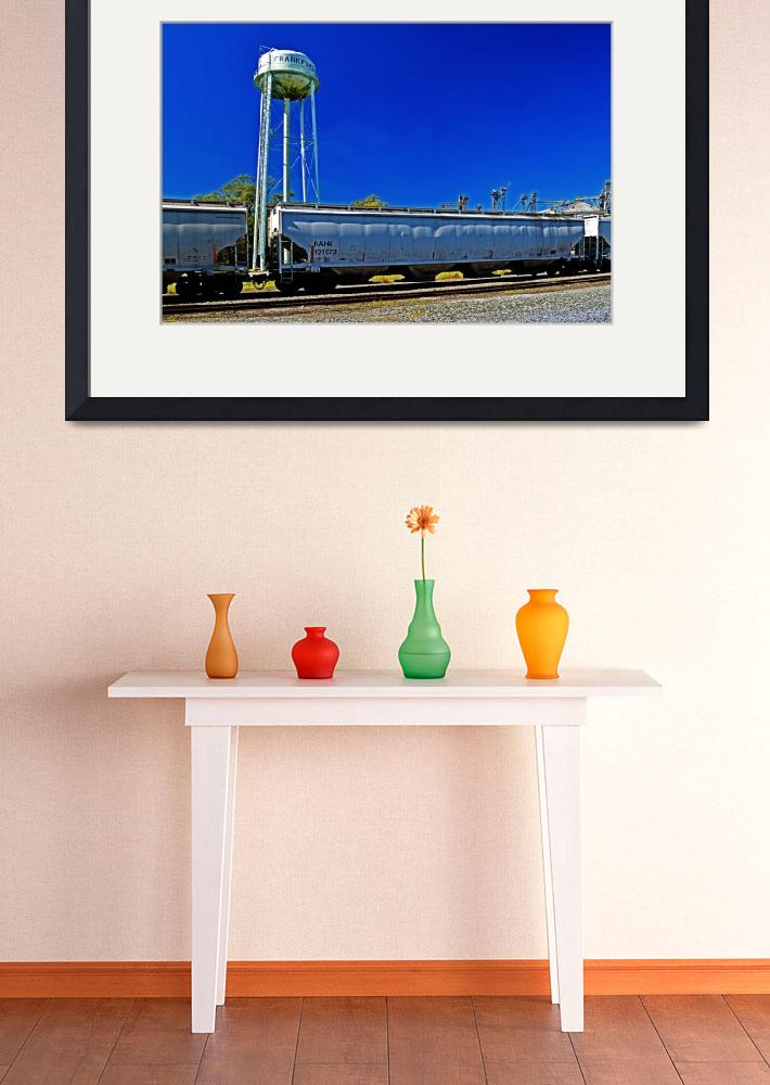 """""""Frankford Rail Siding with Gondola Cars&quot  by travel"""