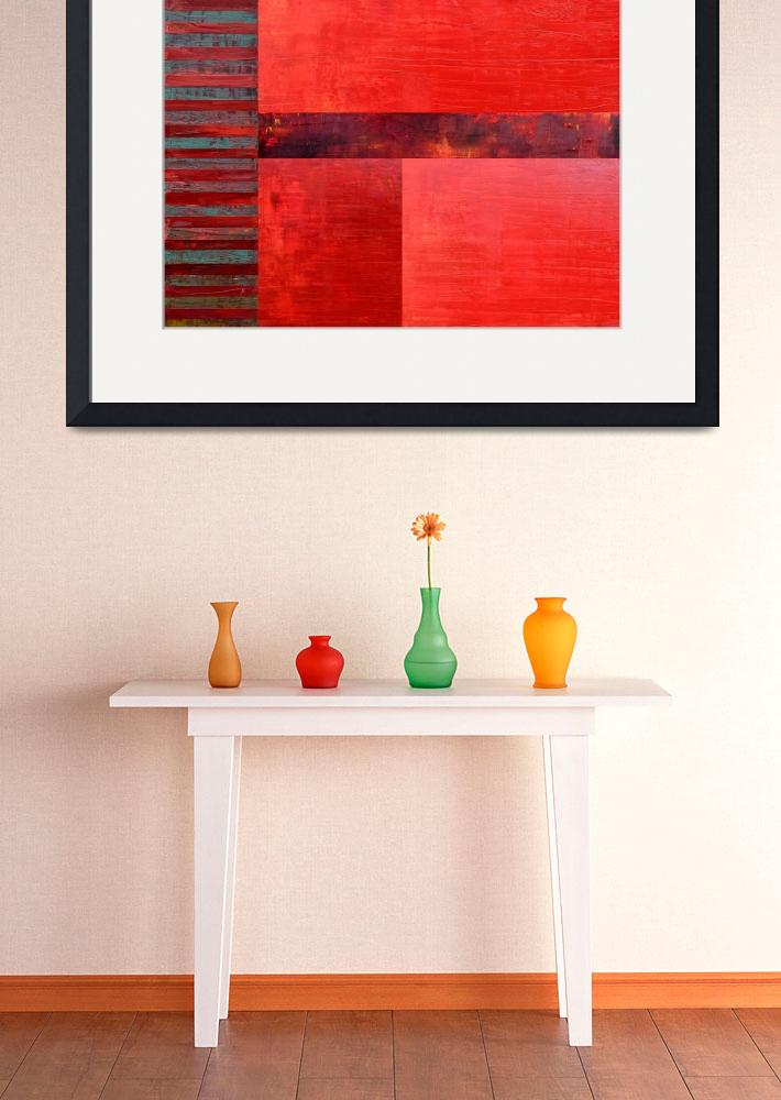 """""""Red with Orange 2.0&quot  (2017) by Michelle1991"""