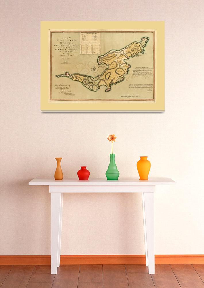 """""""Island of Bequia Map (1794)""""  by ArtHistory"""