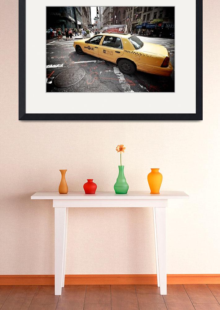 """""""NYC Taxi on Fifth Avenue, New York City, USA&quot  (2010) by tysonwilliams"""