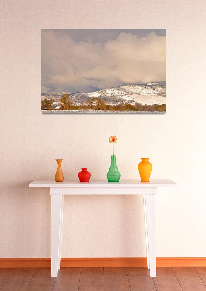 """""""Low Winter Storm Clouds Colorado  Foothills&quot  (2011) by lightningman"""