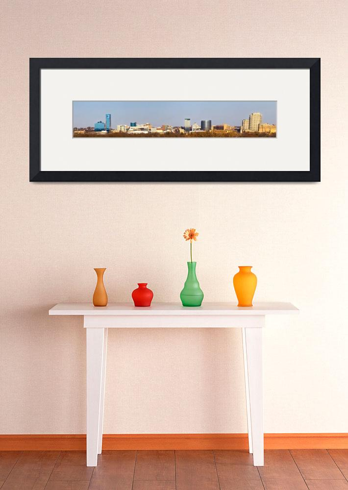 """Grand Rapids Skyline Panorama&quot  (2014) by GRStockPhotos"