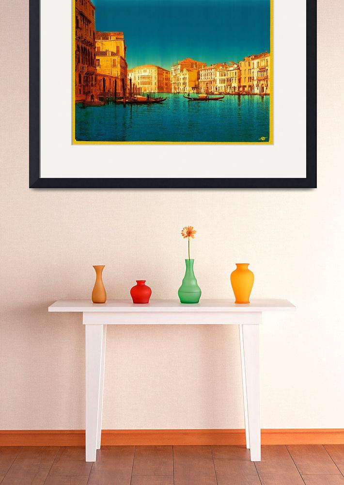 """Venice Italy Vintage Original Painting&quot  (2017) by RubinoFineArt"