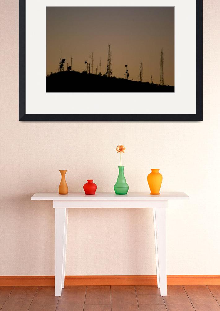 """""""Radio Towers at Dusk&quot  (2005) by james4july"""