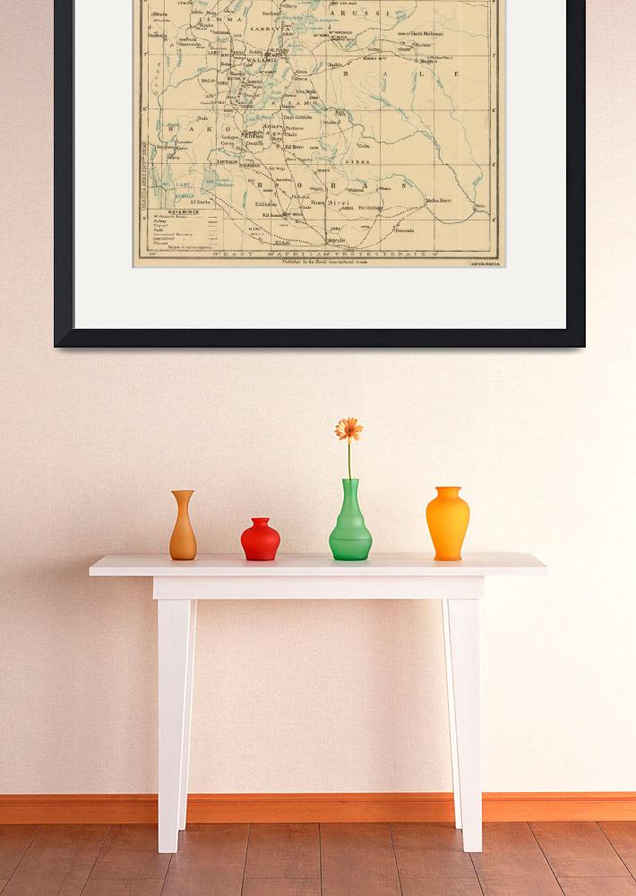 """Vintage Map of Ethiopia (1919)""  by Alleycatshirts"