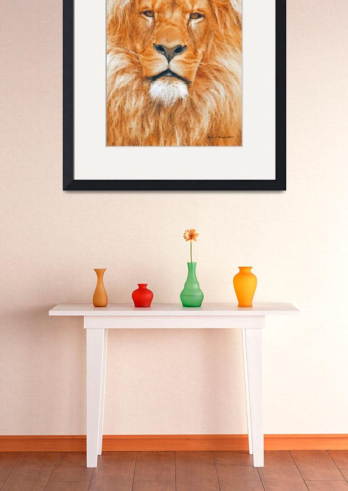 """Old Lion&quot  (2011) by artstoreroom"