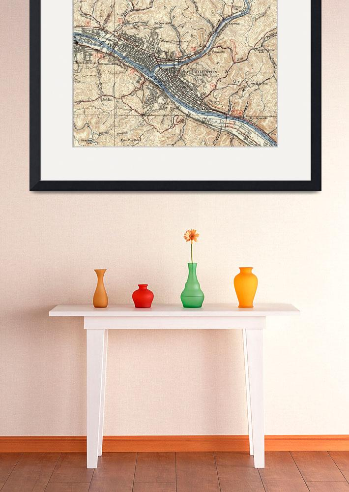"""Vintage Map of Charleston West Virginia (1931)&quot  by Alleycatshirts"