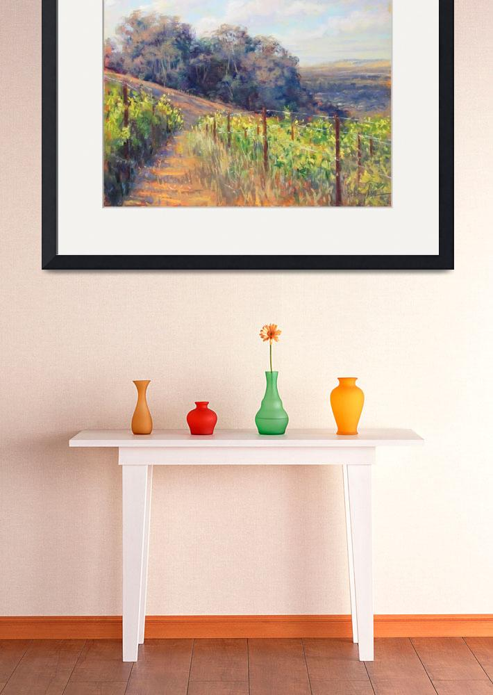 """""""West Vineyard View&quot  (2012) by MakinArt"""