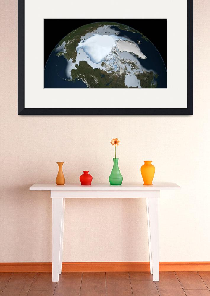 """Planet Earth showing sea ice coverage in 1980&quot  by stocktrekimages"