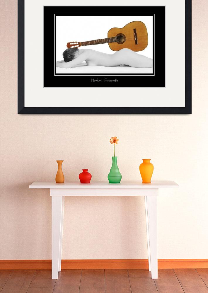 """""""female nude used as a wooden guitar stand&quot  (2010) by baechlergallery"""