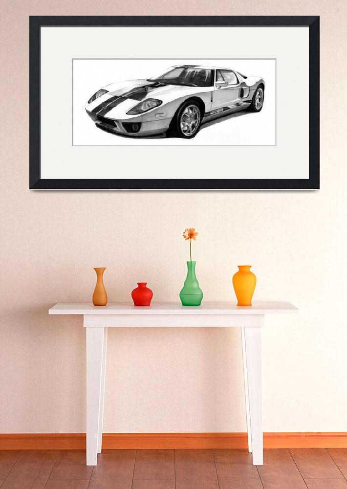 """""""Ford Gt""""  (2011) by SmithAutomotiveArtwork"""