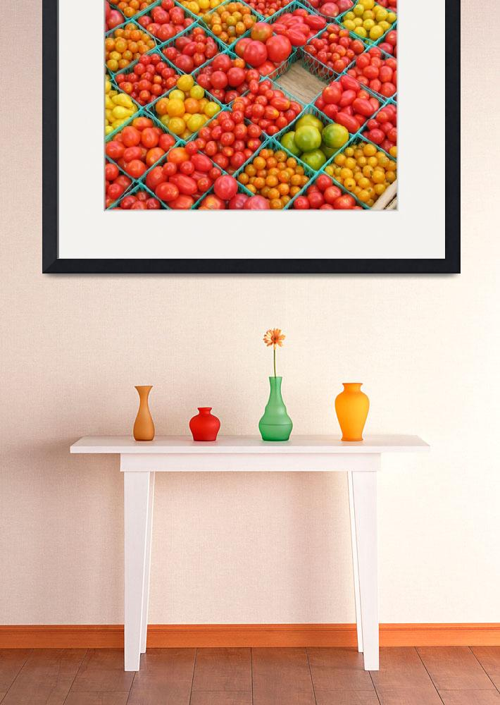 """tomatoes in a basket&quot  (2007) by NickBiscardiArt"