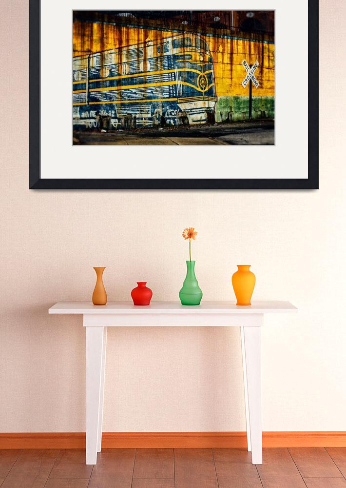 """bo-train-painting-on-wall-0318""  by travel"