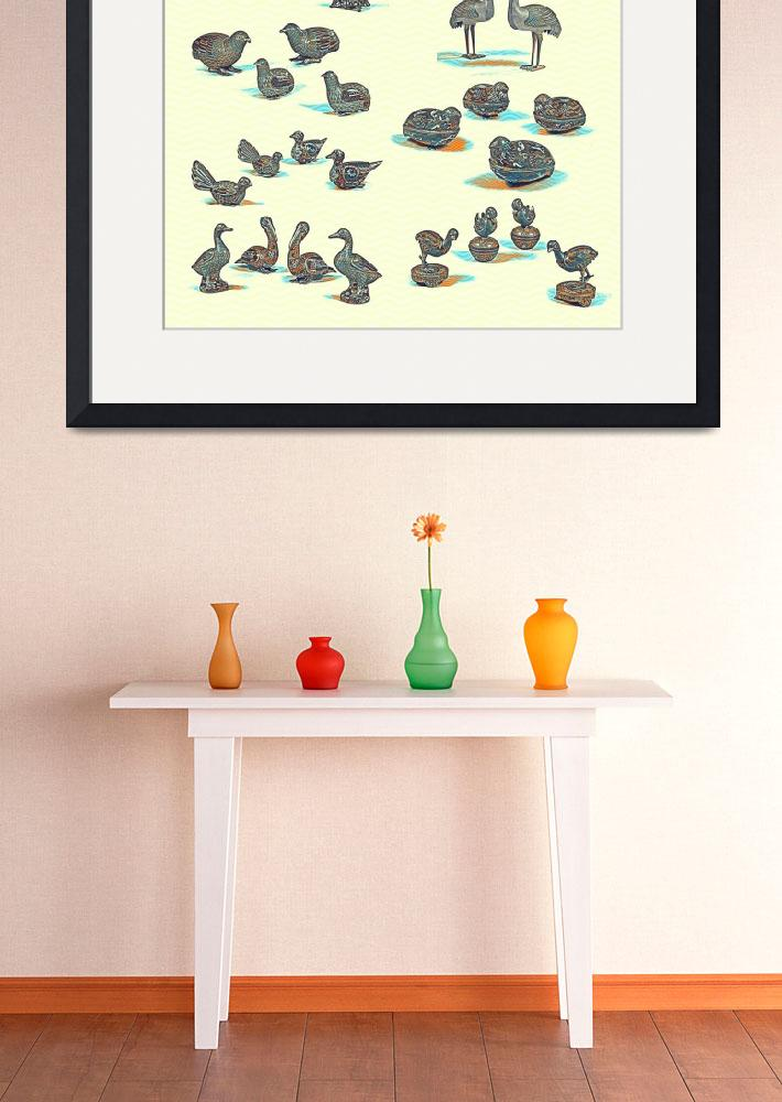 """""""Cloisonne enamel animals China Poster, by Adam Asa&quot  by motionage"""