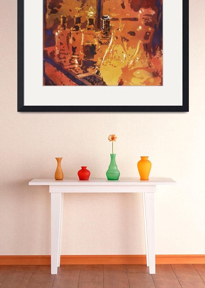 """""""Watercolor painting of perfume bottles- Tunisia&quot  (2016) by RFoxWatercolors"""
