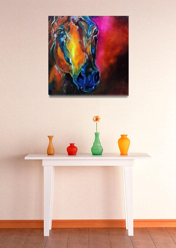 """ALLURE ARABIAN EQUINE ABSTRACT&quot  (2010) by MBaldwinFineArt2006"