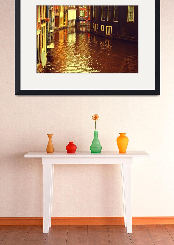 """""""Golden Hour in Amsterdam. Reflections""""  (2013) by JennyRainbow"""