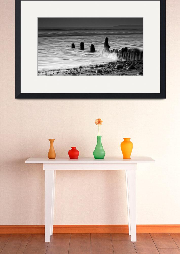 """""""Misty Waves on The Groynes&quot  (2015) by PeteMoyes"""