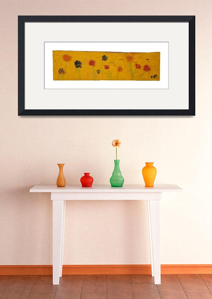 """""""FLOWERS ON YELLOW form# 02.003&quot  by valmcox"""