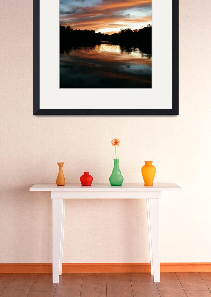 """""""sunset with orange reflection&quot  (2012) by dietrich"""