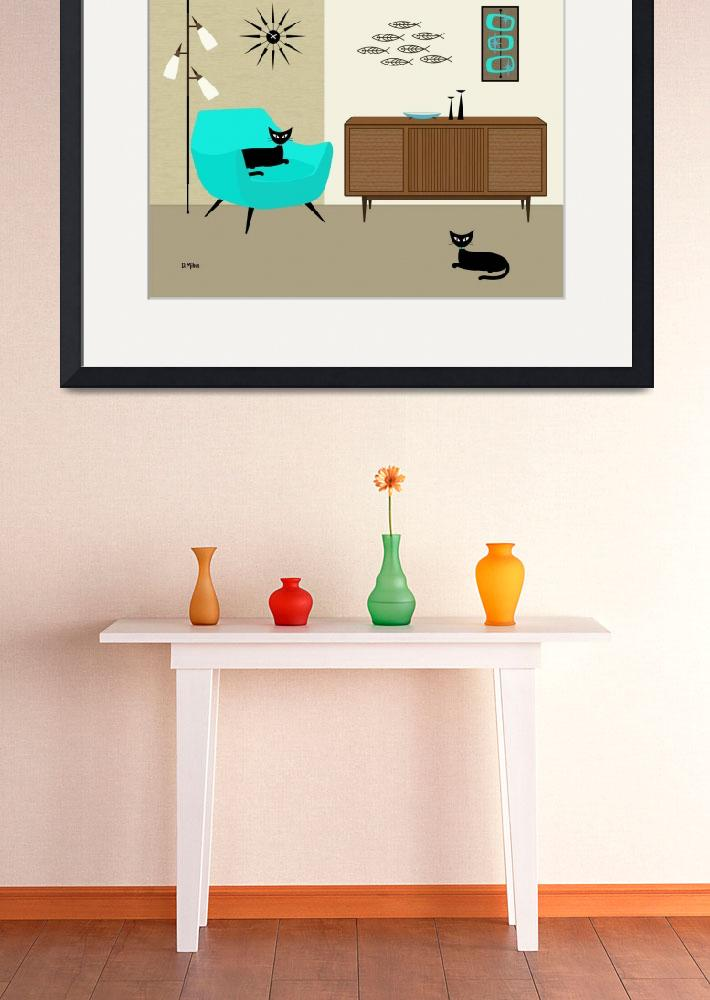 """""""Fish Wall Art with Aqua Chair&quot  (2014) by DMibus"""