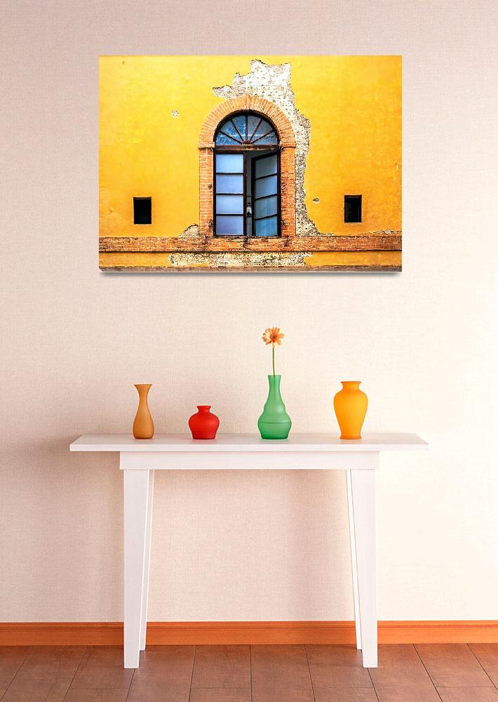 """""""Window on Colorful Wall in Siena Italy&quot  (2014) by ADogsLifePhoto"""