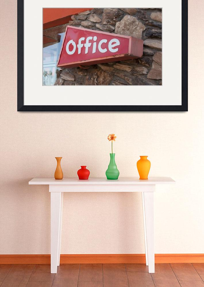 """""""Office Sign""""  (2013) by midcenturymodern"""