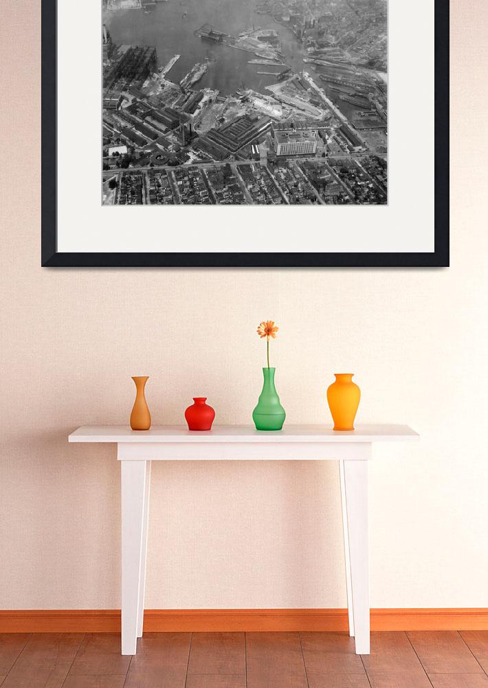 """""""U.S. Naval Yard in Brooklyn NY Photograph (1932)&quot  by Alleycatshirts"""