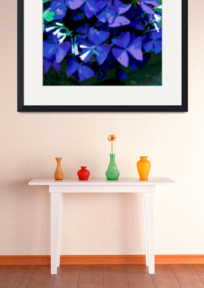 """Friends Plant Blue&quot  (2008) by LeslieTillmann"