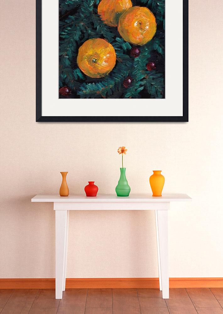 """""""Christmas clementines and cranberries&quot  (2011) by zurika"""