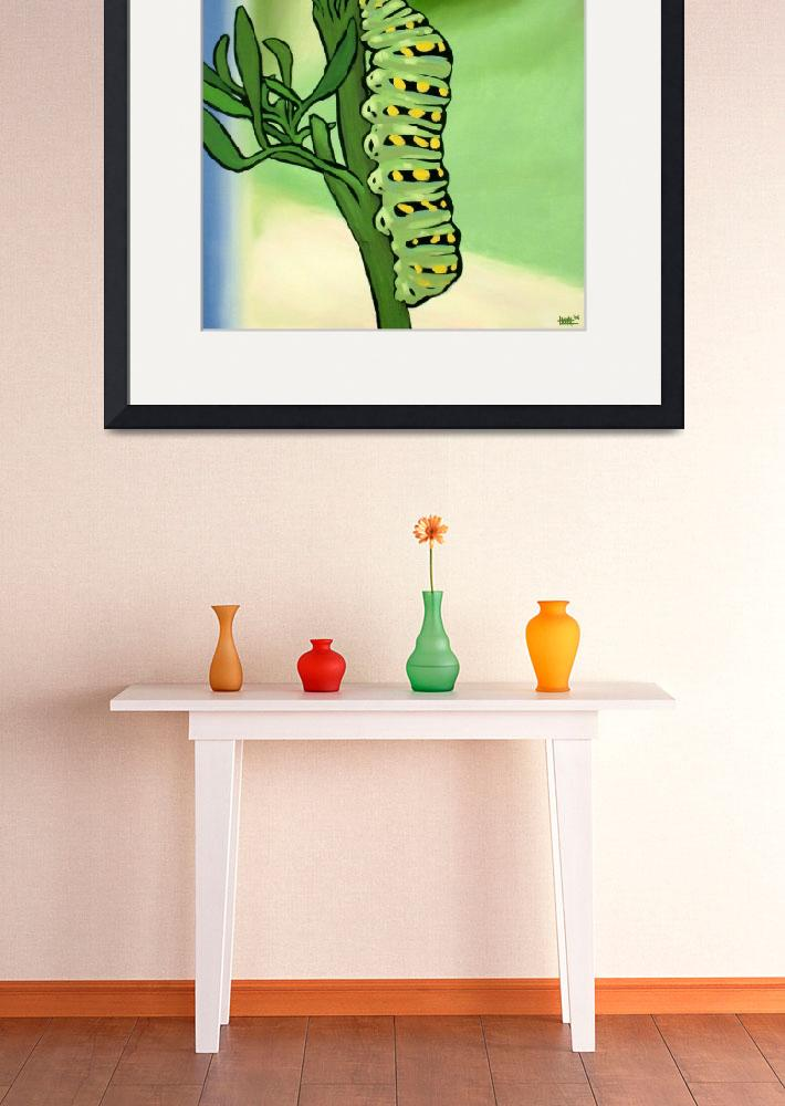 """Caterpillar on Parsley&quot  (2006) by harryboardman"
