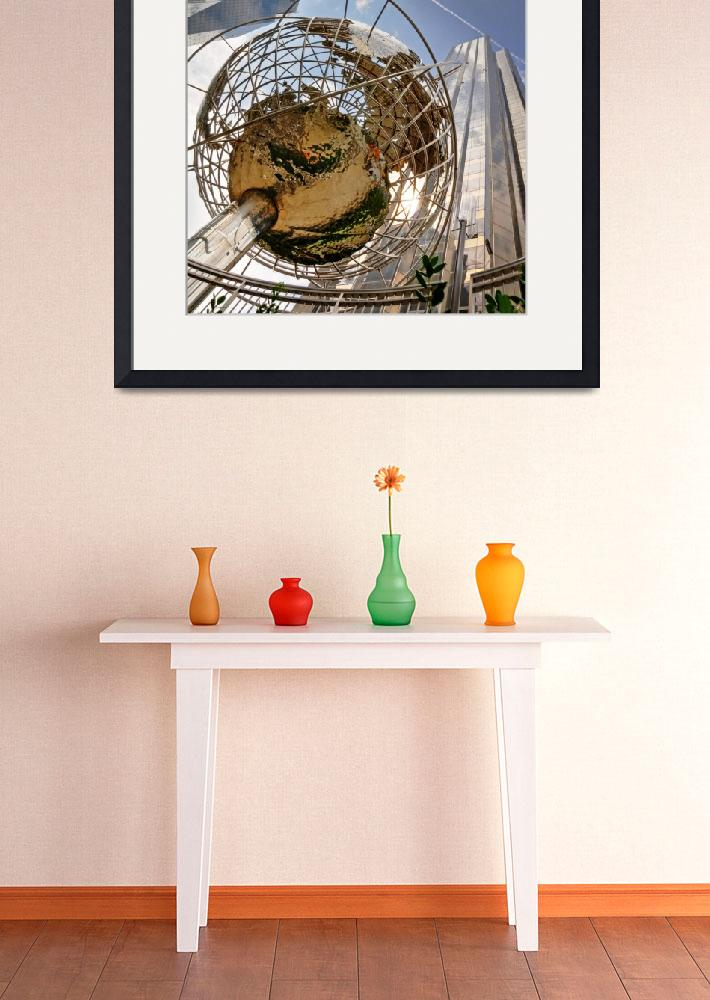 """Globe at Trump International - Square Print""  (2010) by InTheMomentImages"