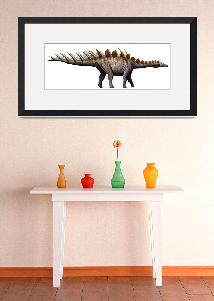 """Miragaia longicollum, a stegosaurid of the Jurassi&quot  by stocktrekimages"