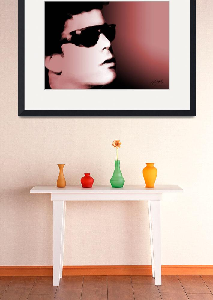 """Lou Reed, The Velvet Underground - giclee print&quot  (2007) by positiveID"
