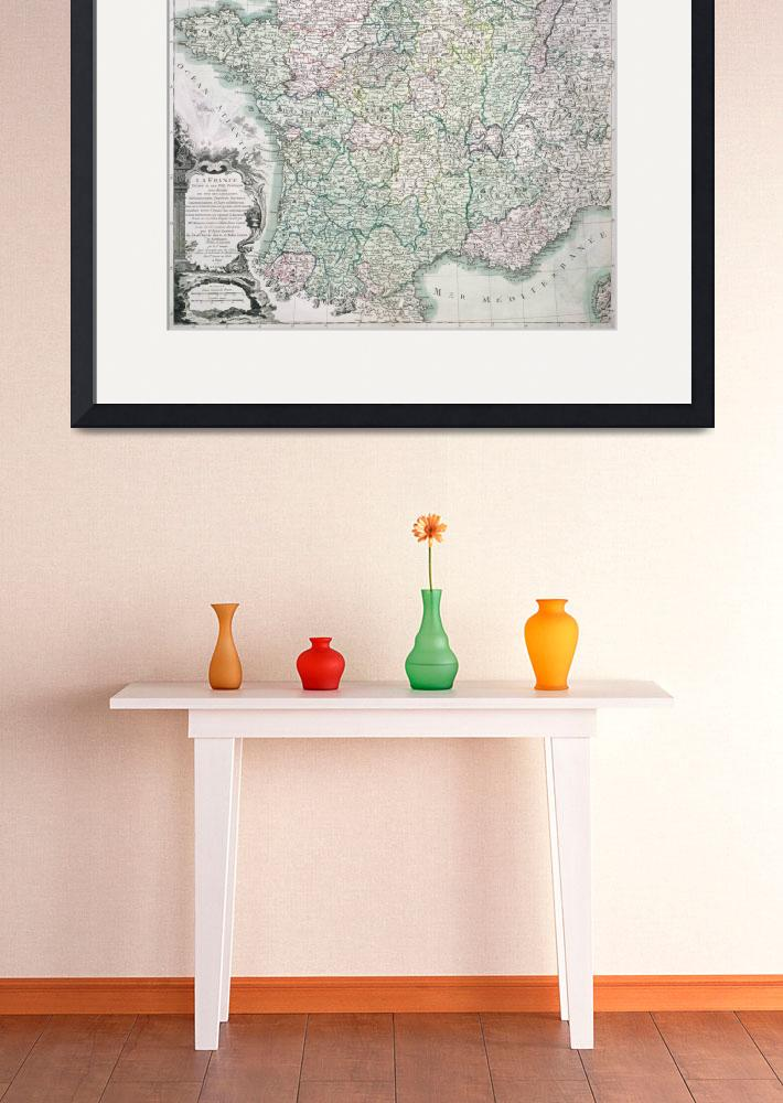 """""""Map of France&quot  by fineartmasters"""