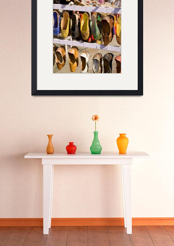"""""""India, Rajasthan, Jaipur, Shoes For Sale For Shopp&quot  by DesignPics"""