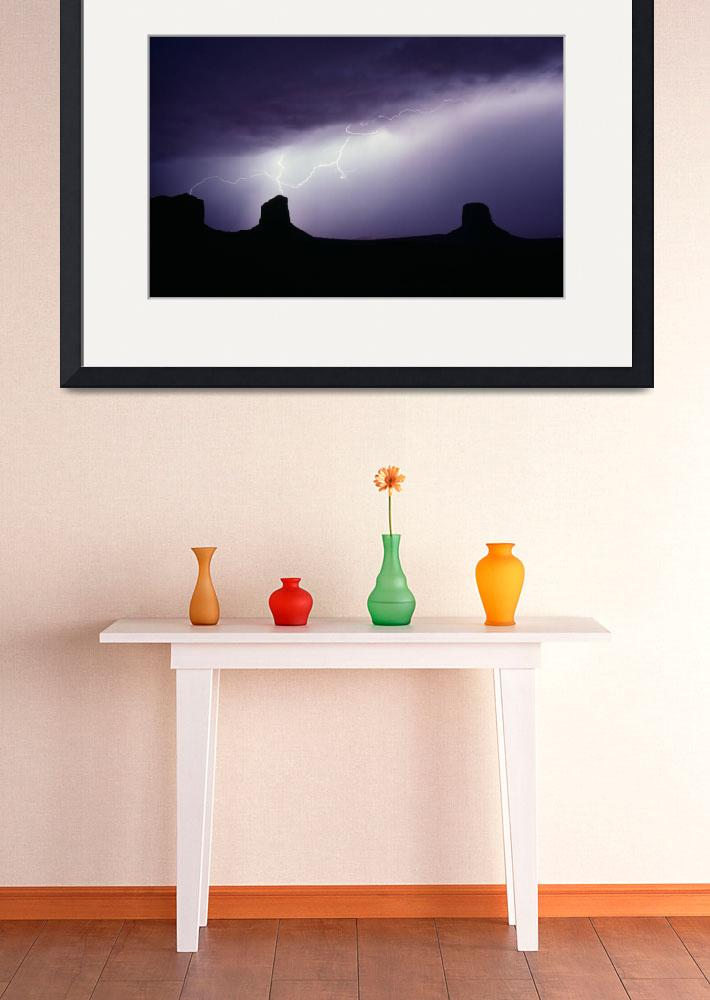 """""""Monument Valley Storm&quot  (1991) by christopherboswell"""
