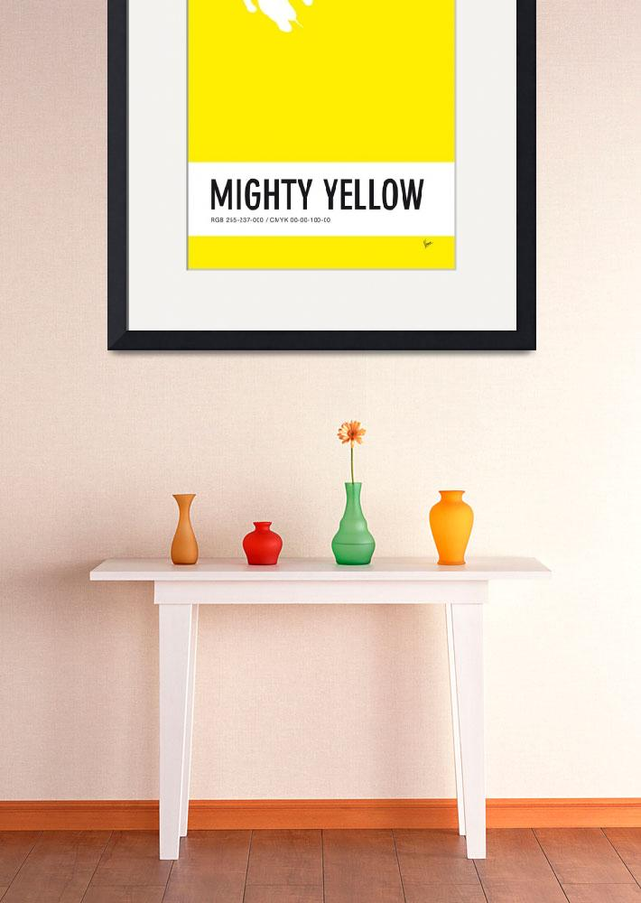 """No02 My Minimal Color Code poster Mighty Mouse&quot  by Chungkong"