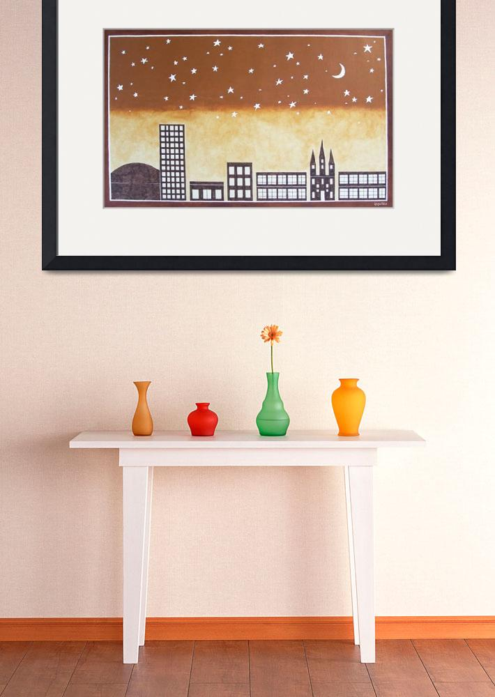 """""""New Orleans Skyline&quot  (2006) by ippolito"""