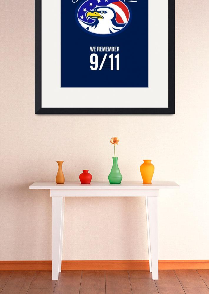 """Patriot Day We remember 911 Poster Card&quot  (2014) by patrimonio"
