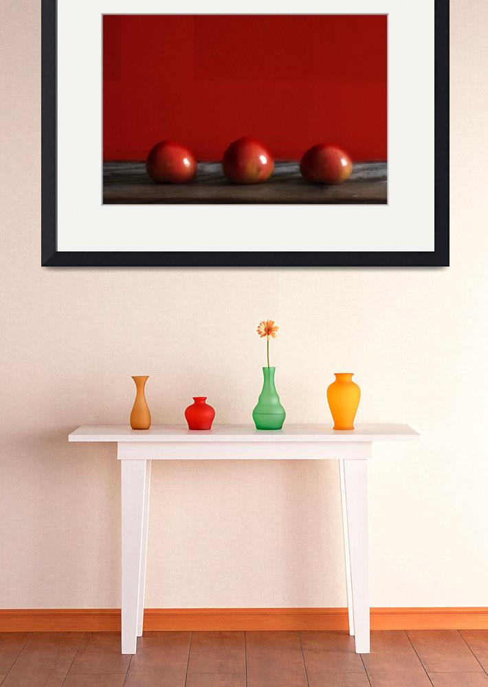 """Three Tomatoes - Still-Life&quot  (2010) by Black_White_Photos"