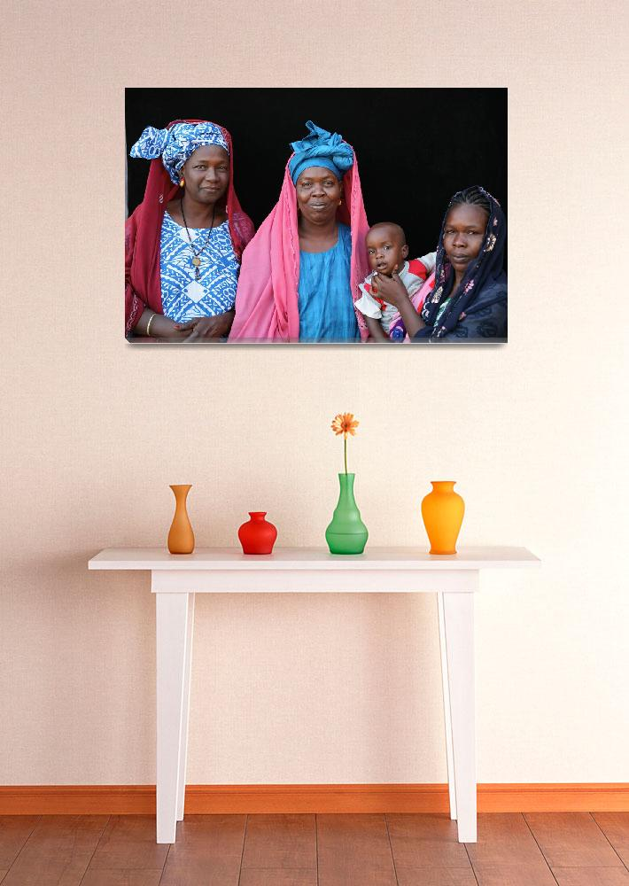 """""""Pulaar Women with Baby""""  (2009) by AndreaMoorePhotography"""