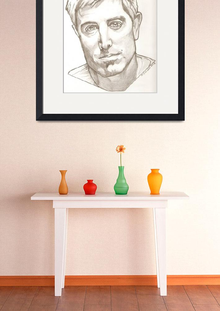 """""""Jeremy Camp drawing&quot  (2013) by RobCrandall"""