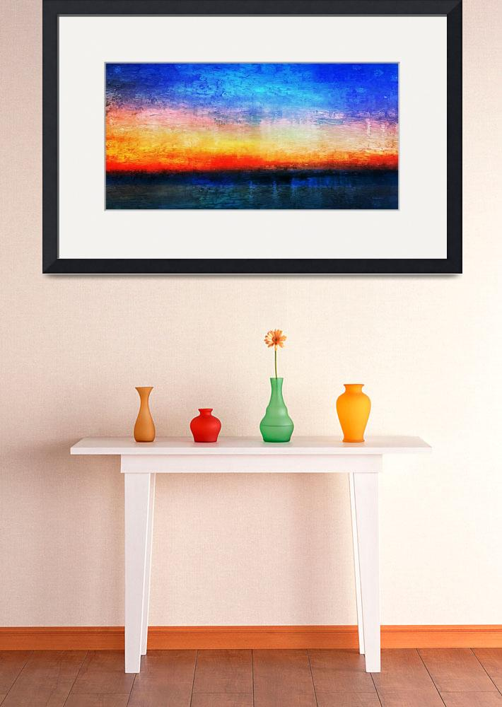 """""""15a Abstract Seascape Sunrise Painting Digital&quot  (2016) by Ricardos"""