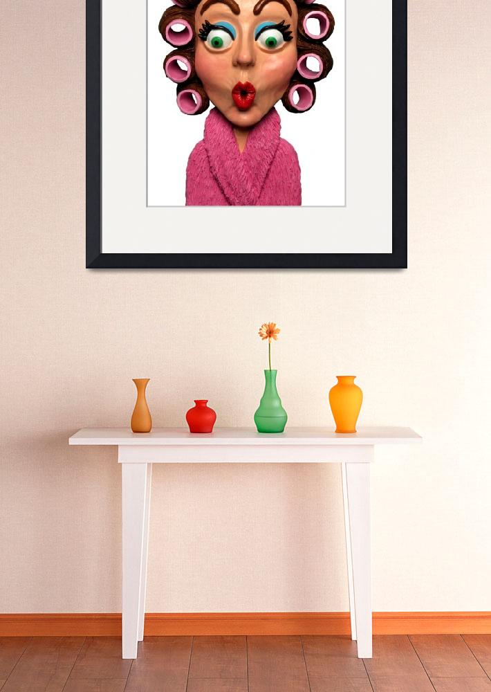 """""""Woman Wearing Curlers&quot  (2009) by AmyVangsgard"""