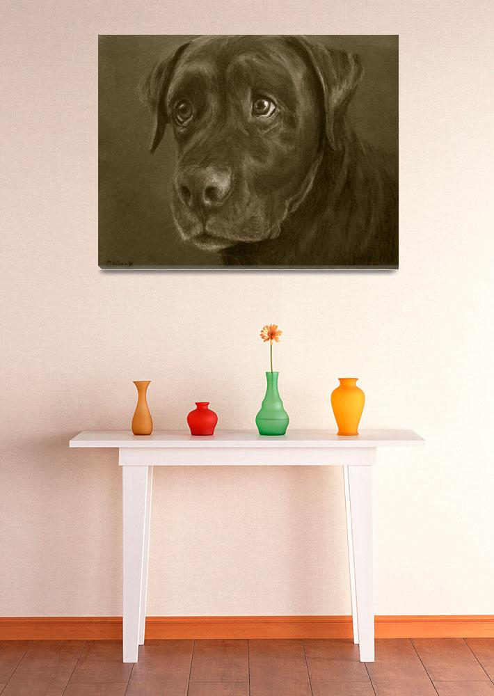 """""""Brown Lab""""  (2012) by crittersbychris"""
