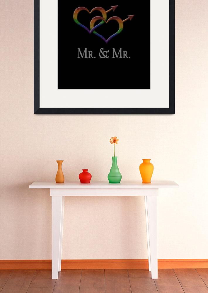 """""""Mr. and Mr. - Gay Pride - Marriage Equality""""  (2013) by LiveLoudGraphics"""