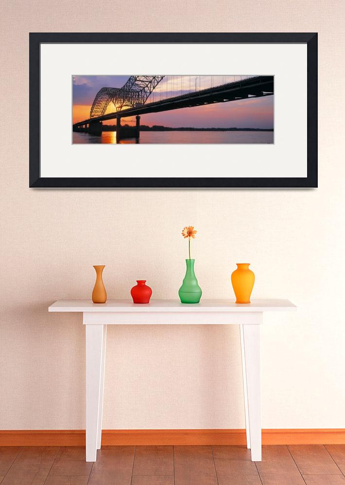 """""""Sunset Hernandez DeSoto Bridge and Mississippi Ri""""  by Panoramic_Images"""